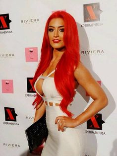 Eva Marie #Divas #AllRedEverything #WWE.........    I want my hair this color!! And the body would be nice too :)