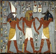 Ramses 1 from his tomb in the Valley of the Kings, Luxor, Egypt.
