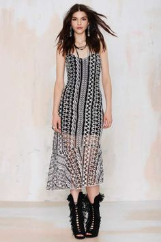 Line & Dot Getaway Embroidered Dress