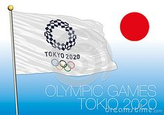 Tokio Olympic Games 2020, logo, flag and symbol, vector file, illustration