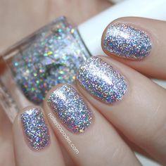 FUN Lacquer 24 Karat Diamond - Silver Holo Glitter Topper