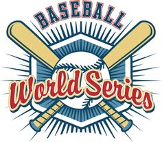 World Series Baseball Graphic is completely and instantly customizable in CorelDraw or Illustrator!