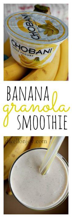 Dwell on Joy: Banana Granola Smoothie