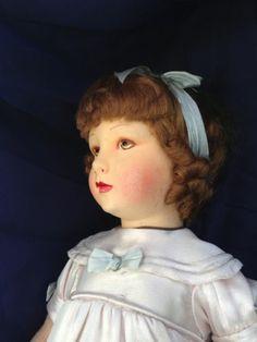 "Raynal French Poupee 19"" Cloth Doll Original Box w Label RARE Logo Necklace | eBay"