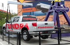 Toyota Tundra - the truck that towed the Space Shuttle Endeavour, finds permanent home at California Science Centre