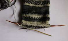 Siona: 005.- Patrón de calcetines con 5 agujas (gratis) Lana, Knitting, Free, Blog, Molde, Stocking Pattern, Knitting Needles, Visual Diary, Knits