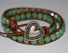 Heart and beads bracelet.