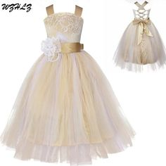 Wholesale Free Shipping Ball Gown Floor Length Flower Girl Dresses With  Appliques Pearls Sash Custom Made a0e39b8f47ef
