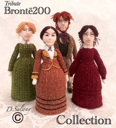 Pulling the wool over the Brontes' eyes (From Keighley News) Knitting Patterns Free, Knit Patterns, Free Knitting, Knitted Dolls, Crochet Toys, Knit Crochet, Yarn Inspiration, Pride And Prejudice, Crochet Projects