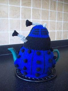 Knitted Tea Cosy Cozy Cosie Dalek Dr who Shabby Chic. £12.99, via Etsy.