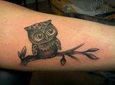 Resultado de imagem para small owl tattoo