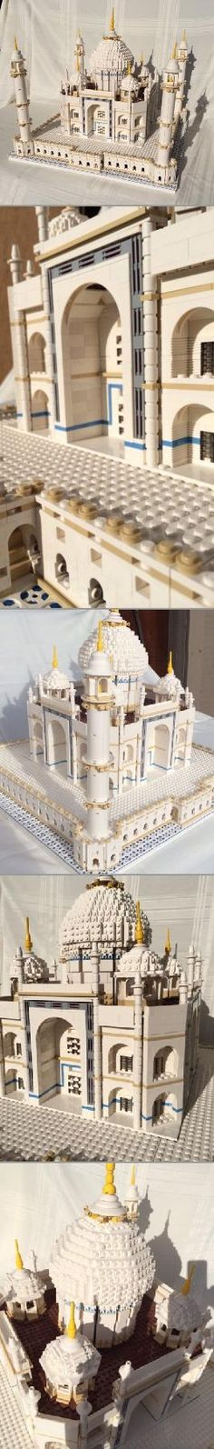 The beautiful LEGO Taj Mahal has almost 6,000 pieces and is assembled in three separate sections due to the size! Designed for experienced builders only! Do you dare?
