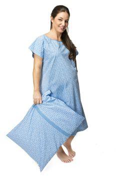 Gownies - Designer Hospital Gown Labor Kit           ($38.99) http://www.amazon.com/exec/obidos/ASIN/B004DJHRA0/hpb2-20/ASIN/B004DJHRA0