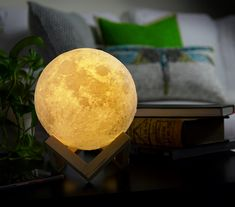 ✔️ 3D PRINTING TECHNOLOGY: This Moon lamp is made by most innovative 3D printing technology and price astronomical data, to create a texture that is very similar to the real moon. Built in rechargeable lithium battery, give you surprise that you must be handing a real moon. ** Read more at the image link. (As an Amazon Associate I earn from qualifying purchases) Blue Night Lights, Led Night Light, Orb Light, Lamp Light, 3d Globe, Mood Lamps, Ball Lights, Color Changing Led, Night Lamps