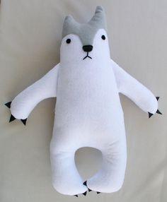 Polar Bear Stuffed Animal by TidwellHollowFriends on Etsy