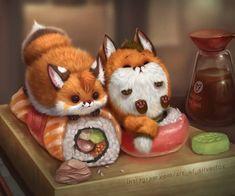 Please observe Chubby little foxes! Cute Animal Drawings, Kawaii Drawings, Cute Drawings, Cute Fox Drawing, Cute Little Animals, Cute Funny Animals, Little Fox, Tier Wallpaper, Fox Art