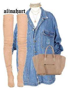 """""""$"""" by alinahartikainen ❤ liked on Polyvore featuring Balmain, Forever 21, CÉLINE and Amrita Singh"""