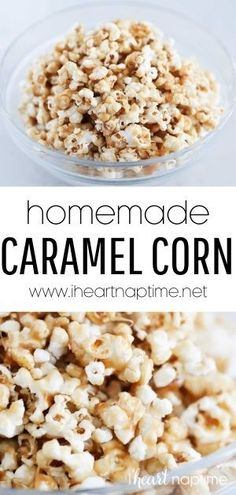 Easy homemade caramel corn that's made in just 15 minutes! Sweet, crunchy and coated in a rich caramel sauce that's completely addicting!