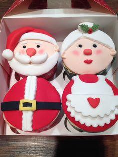 Christmas Cake Designs, Christmas Cake Decorations, Christmas Deserts, Christmas Brunch, Xmas Food, Christmas Cooking, Holiday Cupcakes, Holiday Cookies, Cookie Decorating