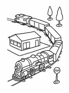 train coloring pages...because my 2 year old is obsessed!