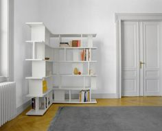 Стеллаж белый угловой White Corner Bookcase, Corner Shelving Unit, Decoration, Home Accessories, Family Room, The Unit, Furniture, Home Decor, Google Search