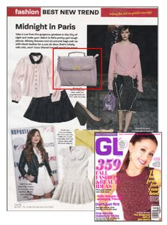 This Vieta bag looks chic as ever in the August/September 2012 issue of Girl's Life Magazine