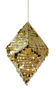 Crystal Pinata-Gold. Fill it with confetti, garters and paper flowers, instead of typical flower/garter toss.