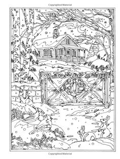 Amazon.com: Creative Haven Spring Scenes Coloring Book (Creative ...