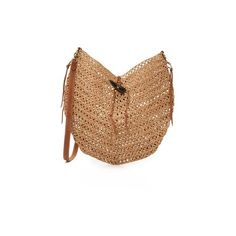 Sans Arcidet Phoenix Large Sling Bag ($240) ❤ liked on Polyvore featuring bags, handbags, tote bags, tea, straw tote bag, woven handbags, straw handbags, tote purse and beige tote bag
