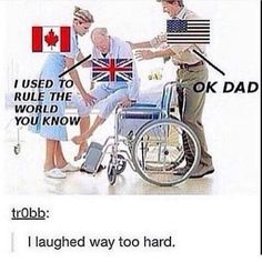 Just imagine Canada and America from Hetalia having this conversation with a drunk Britain. XD<<Idk why I was freaking out because I am huge hetalia fan and the fact that somebody else mentioned this made me laugh even Stupid Funny Memes, Funny Relatable Memes, Funny Texts, Funny Quotes, Hilarious, Funny Stuff, America Memes Funny, Random Stuff, Canada Memes