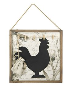 Take a look at this Rooster Framed Blackboard by GANZ on #zulily today! $14 !!