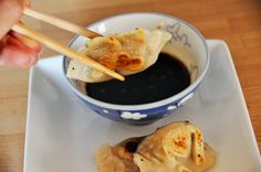 Gluten free vegetarian potstickers @Summer Olsen Ellen look! Something we can both eat!!