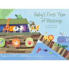 Baby's First Year of Blessings Undated Wall Calendar: This encouraging Baby's First Year calendar from DaySpring features Really Woolly characters and plenty of space to record baby's firsts.  http://www.calendars.com/Baby/Babys-First-Year-of-Blessings-Undated-Wall-Calendar/prod201300006083/?categoryId=cat00140=cat00140