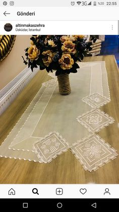Crochet Curtains, Crochet Tablecloth, Hessian Table Runner, Table Runners, Rainbow Wall, Crochet Borders, Flower Applique, Lace Patterns, Cross Stitch Flowers