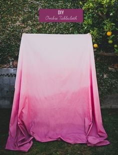 DIY Ombre Tablecloth