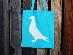 Carrier Pigeon.totes!  Paul Farrell - Coloured cotton tote shopping bags and bird design