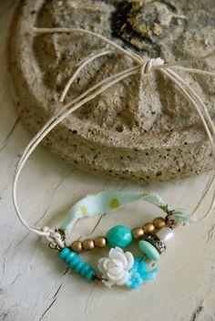 Katie. bohemian string bracelet. Tiedupmemories