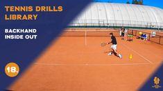 Top tennis drills: Backhand inside out Tennis Videos, Inside Out, Drills, Basketball Court, Free, Tennis, Drill