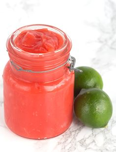 Rasberry Lime Curd - the perfect filling for meringues, cakes, or out of the jar. It's tangy and sweet!