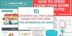 Don't let your house fall into disarray! Keep your home orderly & smelling nice with these BEST CLEAN HOUSE TIPS & HOUSE CLEANING HACKS. 30 min tops!