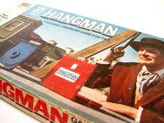 #Hangman Board #Game from Milton Bradley #Vintage #1970s. #family $10.00, via Etsy.