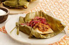 Tamales de cerdo con cebollas encurtidas Receta - Comida Kraft