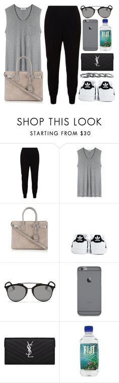 """""""Style #10310"""" by vany-alvarado ❤ liked on Polyvore featuring STELLA McCARTNEY, T By Alexander Wang, Yves Saint Laurent, adidas, Christian Dior and Southwest Moon"""