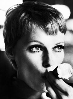 Mia Farrow photographed by Terry O'Neill, 1977.