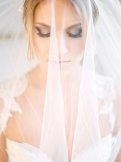 Romantic Bridal Portrait with Veil | photography by http://holeighvphotography.com/