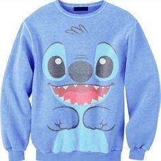 Sweater lilo stitch sweatshirt hoodie lilo and stitch disney swimwear swag shirt clothes disney sweater blue Lilo Stitch, Cute Stitch, Disney Stitch, Stitch Sweatshirt, Graphic Sweatshirt, Stitch Shirt, Disney Outfits, Cute Outfits, Disney Clothes
