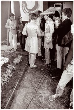 vintage everyday: Photos of Making The Cover for Sgt Pepper's Lonely Hearts Club Band, ca. 1967