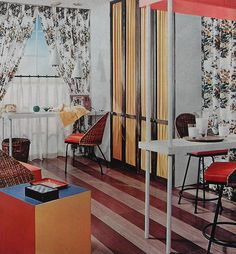 1960s Den Office Home Appartment Dining Space Vintage Interior Design Photo by Christian Montone