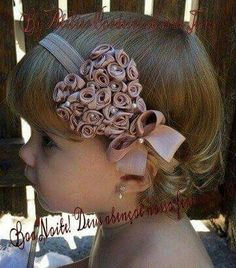DIY Hair Accessories - How to Make Satin Headband For Girls + Tutorial ., Show Your Crafts and DIY Projects. Diy Bow, Diy Ribbon, Ribbon Hair, Ribbon Bows, Girl Hair Bows, Baby Girl Headbands, Baby Bows, Baby Girl Accessories, Diy Hair Accessories