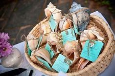 Seashell wedding favors